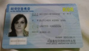 korea alien card